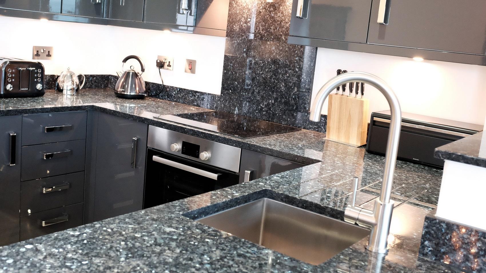 Blue Pearl Granite - Kitchen by RGB Holsworthy