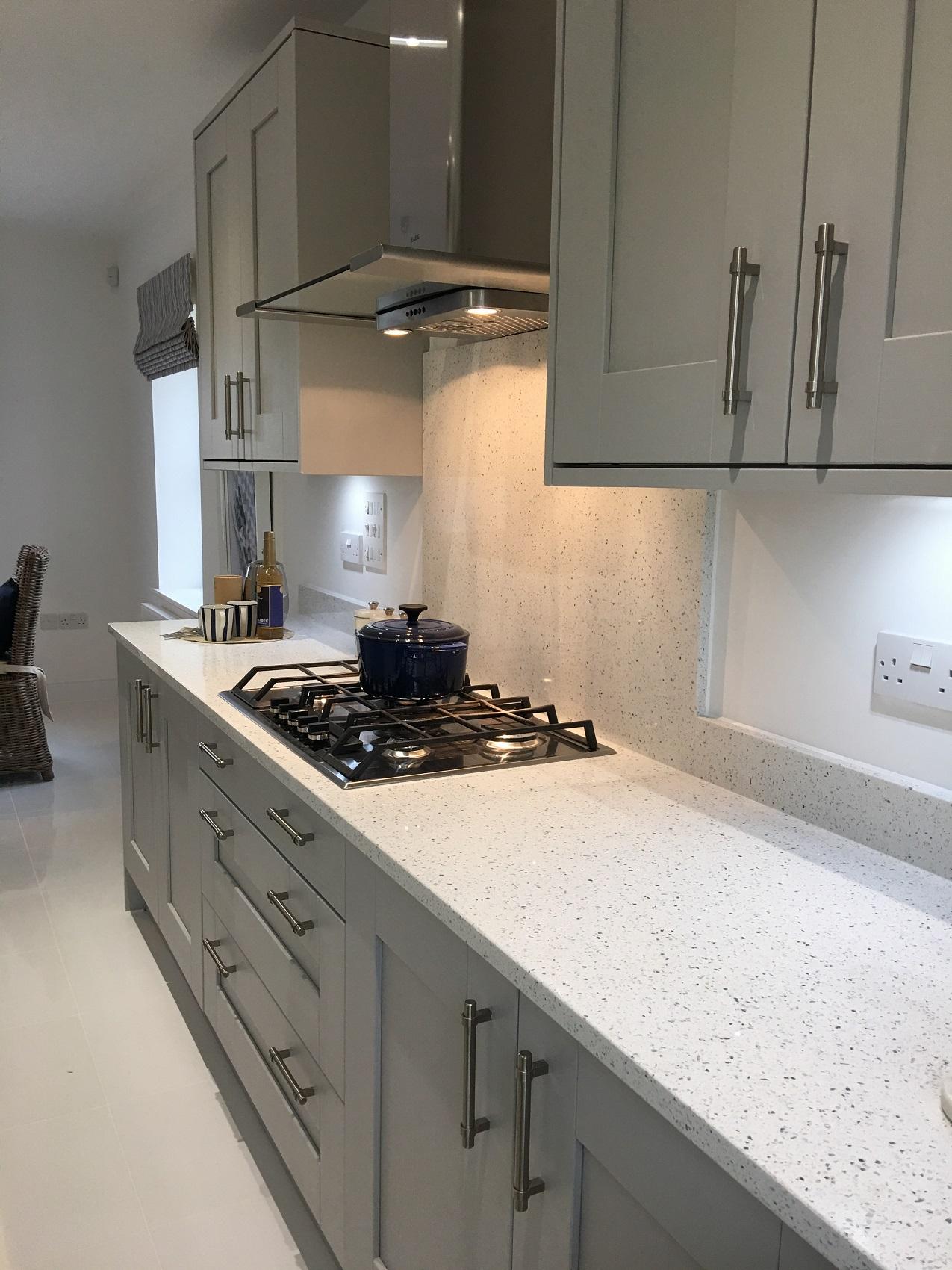Ammonite Diamond White - Kitchen by J T Ellis & Co