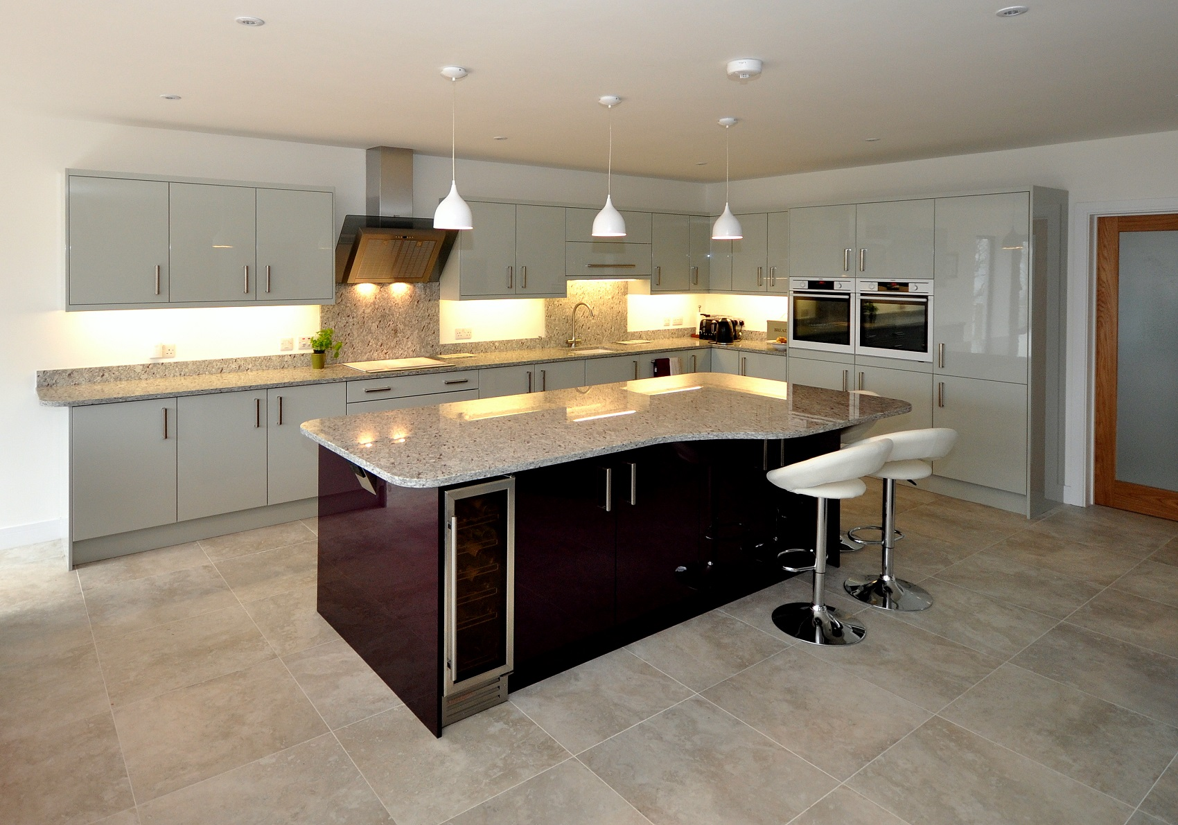 Ambrosia White Granite - Kitchen by Cornwall Kitchen Studio