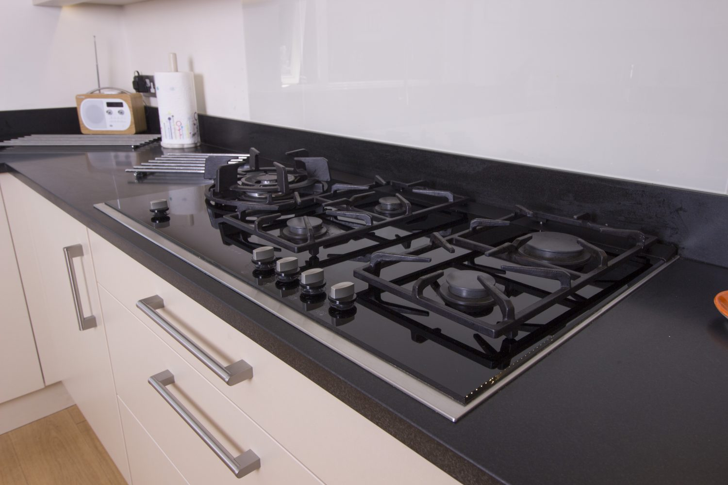 Honed Indian Black Granite - Kitchen by System Six Kitchens
