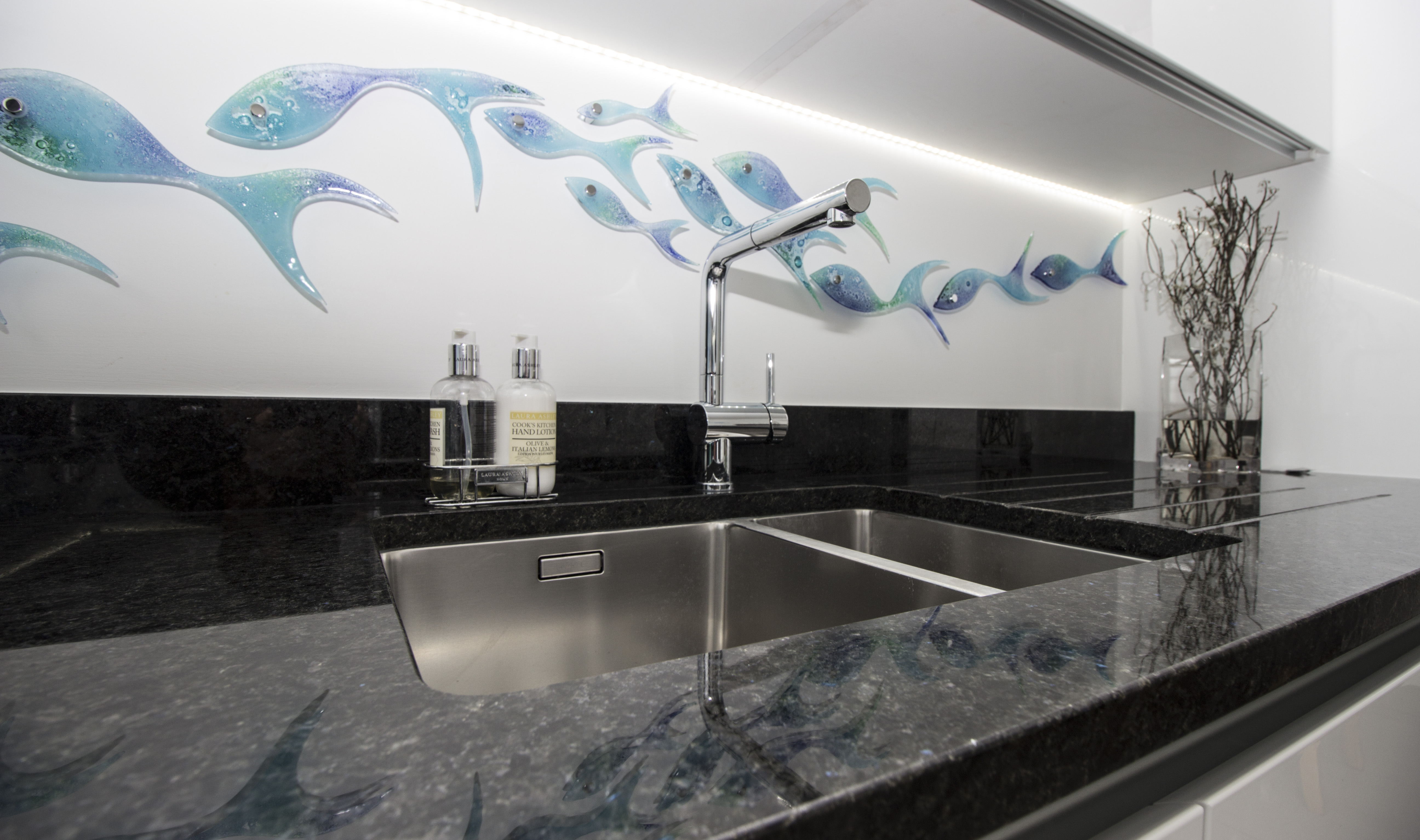 Blues in the Night Granite - Kitchen by System Six Kitchens
